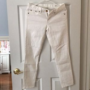 J Crew White Ankle toothpick jeans